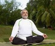 Modi Meditating